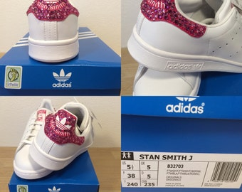 Pair of basketball Stan Smith adorned with Swarovski crystals