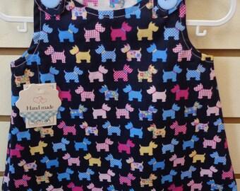 Reversible Dress Scotty Dog 3-6 months