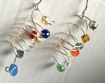 Spiral sparkles earrings