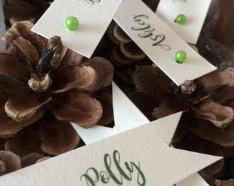 Pine cone place card, nameplace, placecard, wedding place card