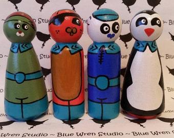Wooden Peg Dolls - Octonauts