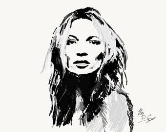 Kate Moss Print DIGITAL DOWNLOAD