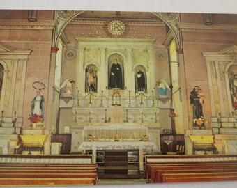Vintage Altar, San Felipe De Neri Church Albuquerque, N.M. Postcard