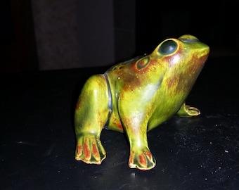 Vintage Green Frog Figurine