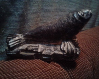 The Wolf Sculpture * Seal On A Rock * Canada*