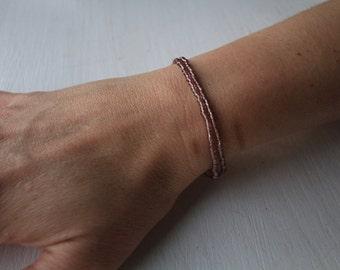 Brown Double Wrap Bracelet