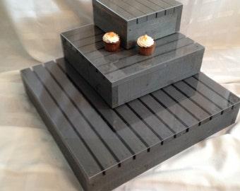 Rustic Wedding Cupcake Stand
