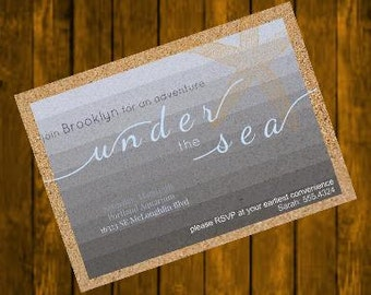 Under the Sea birthday invitation, printable digital download 5x7 JPEG and PDF