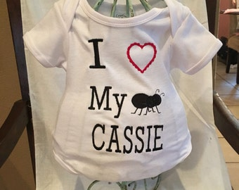 """Baby """"i love my Aunt"""" onesie"""