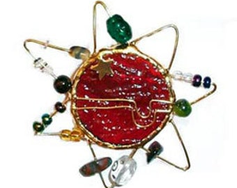 Fused Dichroic Red Sun Pin