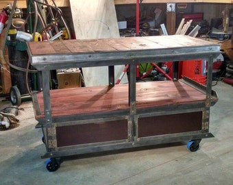 Media console industrial cart