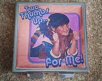Punky Brewster silver compact mirror