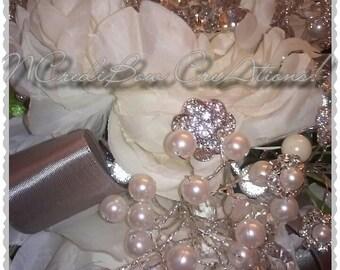 Brooch Bouquet Wedding Bouquet Bridal Bouquet Pearls & Rhinestones