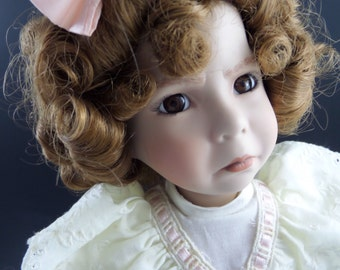 Dianna Effner Porcelain Doll Little Girl with a Curl in the Mother Goose Series