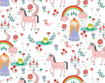 Riley Blake Princess Dreams, Main, White, C5490, fabric by the yard