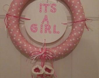 It's A Girl Mini 12'' Foam Wreath