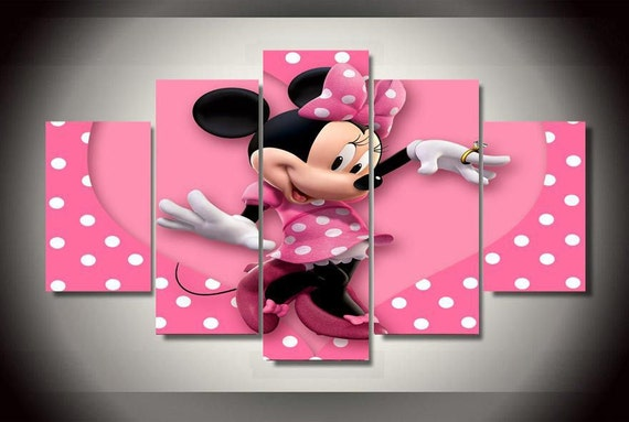 Minnie mickey mouse disney canvas wall art home decor by for Decoration chambre minnie