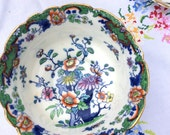 Royal Doulton Bone China Sugar/slop Bowl: dates from 1907-1910 floral design with gild edge