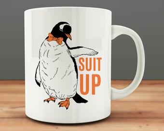 Suit Up Mug, Penguin Mug (M648)