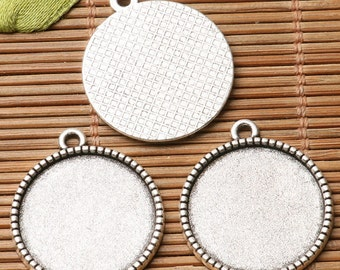 Round shaped cabochon setting Single-sided design in 25mm/20mm/18mm/16mm/14mm/12mm/10mm to PICK