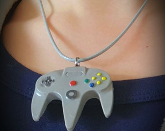 N64 inspired controller necklace