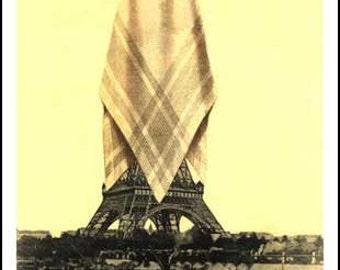 "Set of 10 Postcards: ""Shrouded Eiffel Tower"""