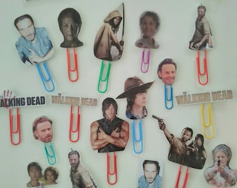 The walking dead paperclip bookmark Rick Grimes Daryl Carl