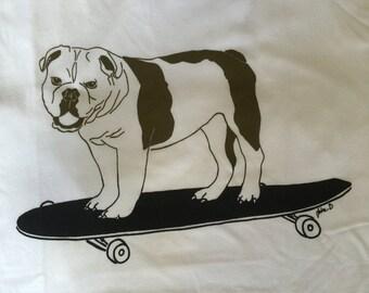 Men's Skating Bulldog T-Shirt
