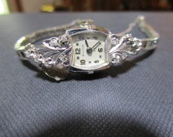 Watch Women's 14K White Gold Bulova Watch