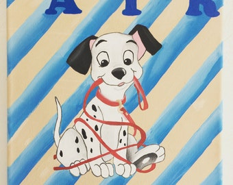 Disney 101 Dalmations Painting #2 - Customized Name