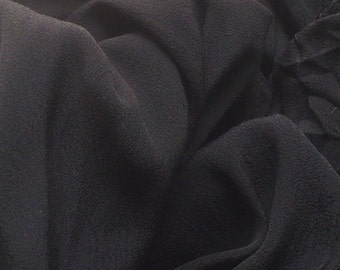 100% Rayon Ghost natural fiber eco-friendly by the yard Black