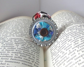 One of a Kind, Wearable Art, Art Gift, Upcycled Jewelry, Whimsical Jewelry, Small Brooch, Unique Jewelry, Vintage Style, Original Jewelry,
