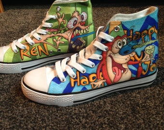 Ren & Stimpy Custom Shoes