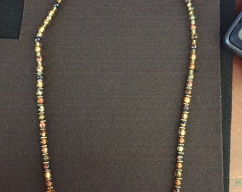 Safari beaded fashion necklace