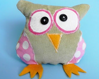 Stuffed owl sewing pattern pdf instant download, Birds sewing pattern