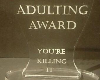 Adulting Award - Glass