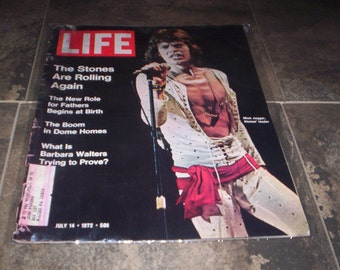 July 14th 1972 Life Magazine ft. Mick Jagger