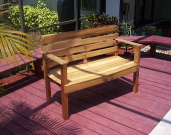 Recycled wood Oak and Cherry Bench