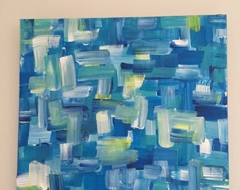 Abstract Blue Green