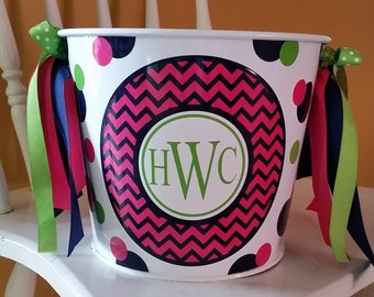 5 Quart Personalized Bucket / Easter Bucket / Beverage Pail / Gift Basket