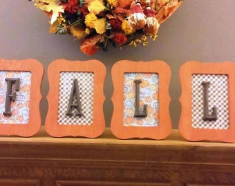 "Fall and Halloween ""Boo"" wood decorations"