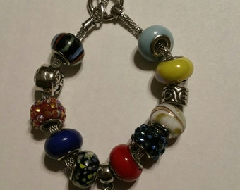 Blue Handmade Bracelet.  Great for Easter basket gift or Mother's Day present.
