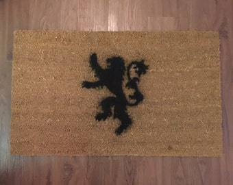House Lannister (Game of Thrones) Inspired Decorative Doormat