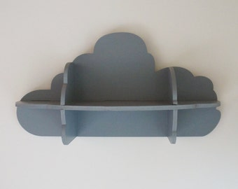 SHELF CLOUD - Leonard & co. - wooden painted gray - wall or to ask - invisible fasteners