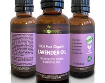 Organic Lavender Essential Oil By Sky Organics- 100% Pure Therapeutic Grade French Lavender Oil -  Massage and Diffusers - Made in USA 1oz