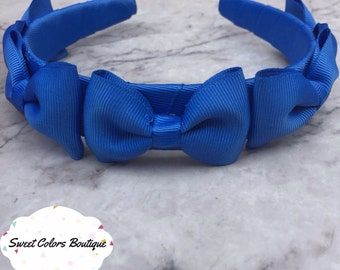 Blue Little Bows Headband