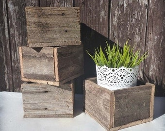 Small Rustic Wooden Planter Boxes