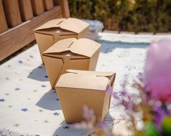 10 Kraft food container, Chinese box, food save box,food box, Kraft chinese box, favor box, gift box, picnic box, picnic food box,salad box