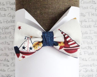 Boys Bow Tie, Boats print bow tie for boys, Yachts and Boats bow tie