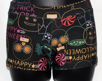 Fun and Cute Halloween - Wacki Shorts  - Cheer, Gymnastics, Yoga, Dance